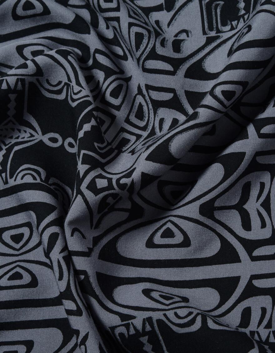 【デザインロング,パレオ】デザインロング(ティキ)ブラック