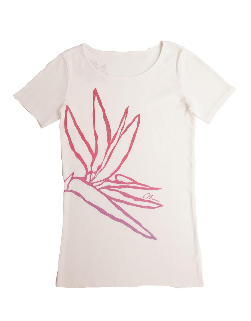【レッスンTシャツ,レッスンアイテム】半袖カジュアルネックTシャツ(シャイニーパラダイス)ホワイト