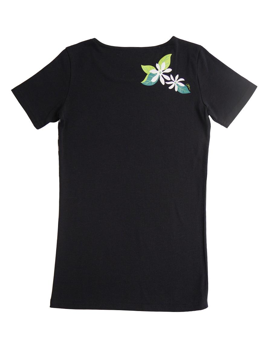【レッスンTシャツ,レッスンアイテム】半袖カジュアルネックTシャツ(タタウティアレ)ブラック