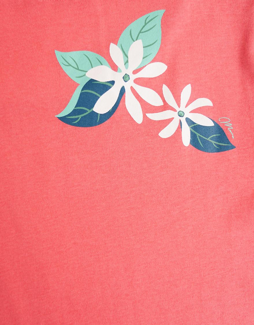 【レッスンTシャツ,レッスンアイテム】半袖カジュアルネックTシャツ(タタウティアレ)コーラル