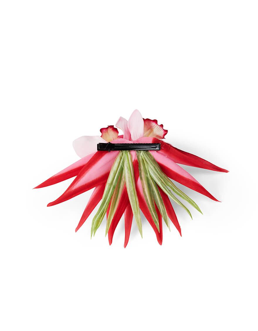 【クリップ/ピック,ヘアーアクセサリー】オーキッド・バードオブパラダイスクリップ(ピンク)