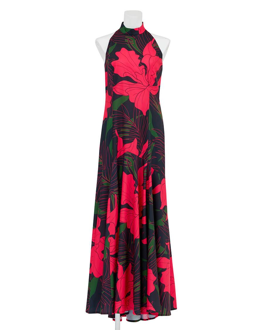 【ドレス,シャイニー生地ドレス】アメリカンスリーブマーメイドドレス(カトレア) ピンク